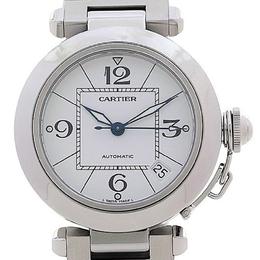 Cartier White Stainless Steel Pasha C Women's Wristwatch 35mm 187125