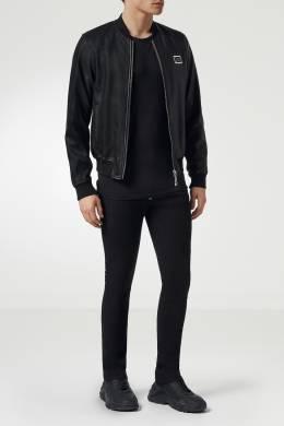 Кожаная куртка-бомбер Philipp Plein 1795136809