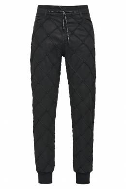 Черные брюки с рельефными швами Philipp Plein 1795136787