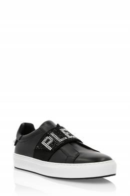 Черные кеды без шнуровки Philipp Plein 1795136875