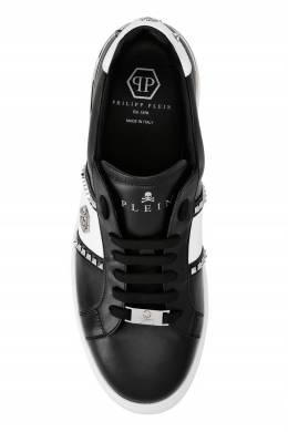 Черные кеды с белой полоской и заклепками Philipp Plein 1795136865