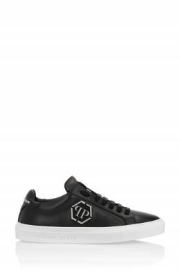 Черные кеды с серебристым логотипом Philipp Plein 1795136871