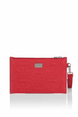 Красный стеганый клатч с логотипом Philipp Plein 1795136723