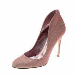 Gianvito Rossi Holographic Gold Glitter Pumps Size 39 201527
