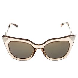Fendi Brown Blue Mirrored FF0060/S Iridia Cat Eye Sunglasses 201482