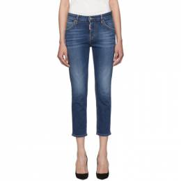 Dsquared2 Blue Cool Girl Cropped Jeans 192148F06901104GB