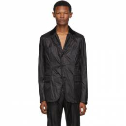 Sacai Black Nylon Blazer 19-02047M