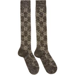 Gucci Black Crystal GG Socks 476525 3G199