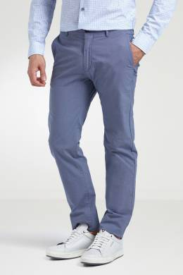 Серо-голубые зауженные брюки Strellson 585136617