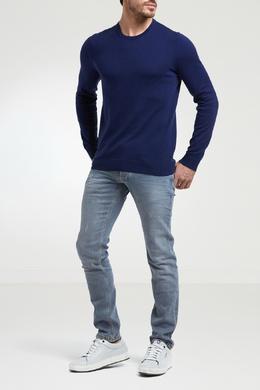 Синий джемпер с круглым вырезом и спущенным рукавом Strellson 585136575