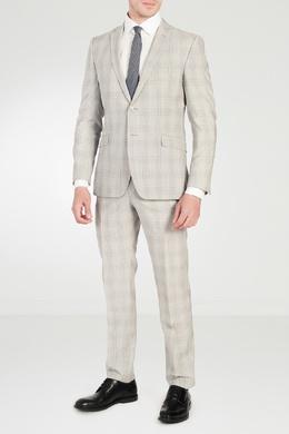 Серый костюм в клетку Strellson 585136636