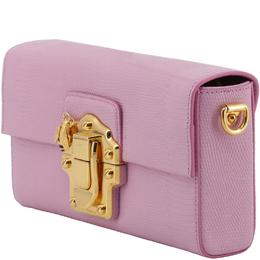 Dolce&Gabbana Pink Embossed Leather Lucia Shoulder Bag 199276