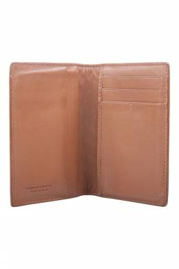 Bottega Veneta Brown Intrecciato Leather Bifold Card Case