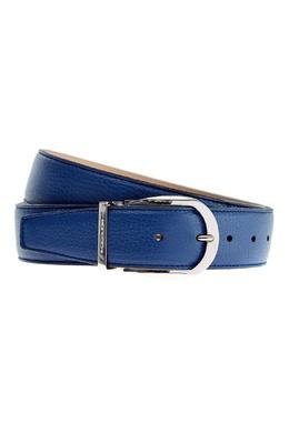 Кожаный ремень синего цвета Moreschi 2315137093