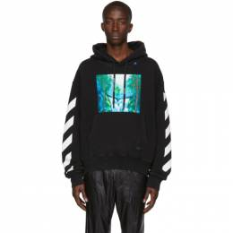 Off-White Black and Multicolor Waterfall Hoodie 192607M20201601GB