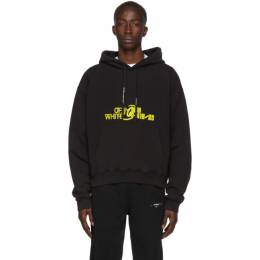 Off-White Black and Yellow Halftone Over Hoodie 192607M20201505GB