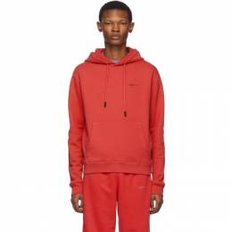 Off-White Red Logo Slim Hoodie 192607M20200505GB