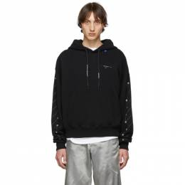 Off-White Black and Silver Diag Backbone Hoodie 192607M20201401GB