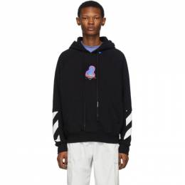 Off-White Black and Multicolor Thermo Double Sleeve Hoodie 192607M20202304GB
