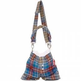 Charles Jeffrey Loverboy Red and Blue Tartan Panties Bag 192101M17000101GB