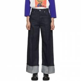 J.W. Anderson Indigo Turn Up Cuffs Jeans 192477F06900204GB