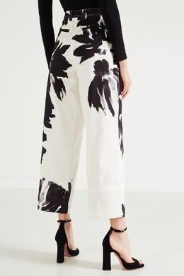 Широкие черно-белые брюки Dries Van Noten 1525137262