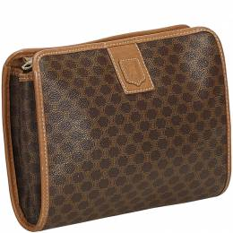 Celine Brown Macadam Clutch Bag