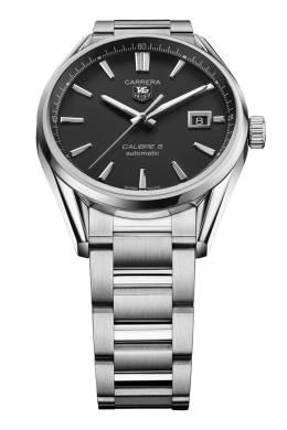 CARRERA Calibre 5 Автоматические мужские часы с черным циферблатом Tag Heuer 2849116803