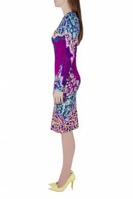 Peter Pilotto Multicolor Marine Print Jersey Long Sleeve Bodycon Dress S 203587