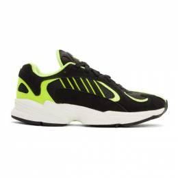 Adidas Originals Black and Yellow Yung-1 Sneakers 192751M23706008GB