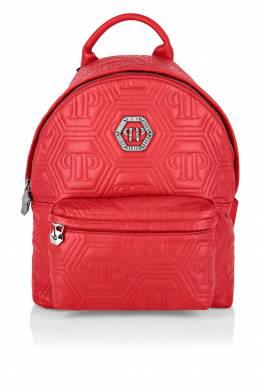 Красный кожаный рюкзак Philipp Plein 1795138401