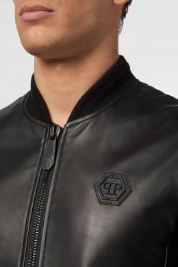 Черная кожаная куртка Philipp Plein 1795138445