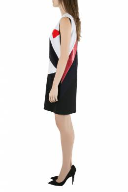 Victoria, Victoria Beckham Colorblock Lamé Trim Panelled Sleeveless Shift Dress M