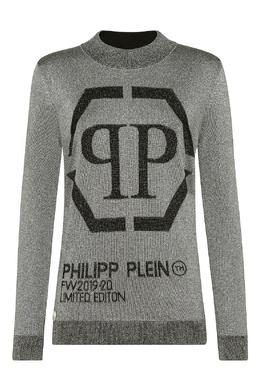 Серый свитер с надписями Philipp Plein 1795138489