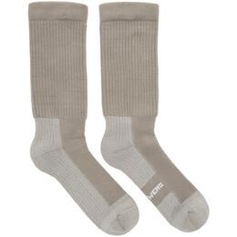 Rick Owens Grey Hiking Socks 192232M22000202GB