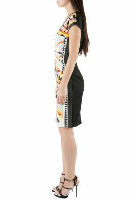 Just Cavalli Multicolor Aztec Print Stretch Knit Scoop Neck Bodycon Dress M 203640