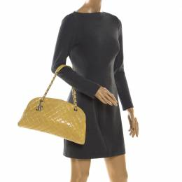 Chanel Yellow Quilted Leather Mademoiselle Bowler Bag 206076