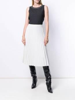 Piazza Sempione - клетчатая юбка со складками 59P6S339995953996000