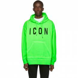 Dsquared2 Green Fade Dyed Icon Hoodie 192148M20200407GB