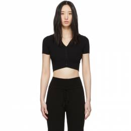 Live The Process Black Seamless Crop Polo 192071F11000302GB