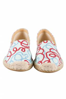 Charlotte Olympia Tricolor Printed Fabric Esme Espadrilles Size 38