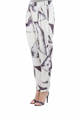 3.1 Philip Lim Monochrome Geometric Print Silk Twill Relaxed Trousers S 3.1 Phillip Lim 203934