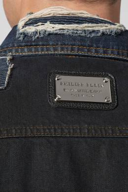 Джинсовая куртка с заплатками Philipp Plein 1795139035