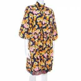 Joseph Field Owen Floral Silk Dress S