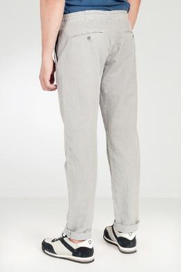 Светло-серые брюки на резинке Strellson 585139350