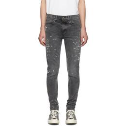 Rag&Bone Black Paint Fit 1 Jeans 192055M18600603GB