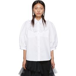 Simone Rocha White Beaded Bustier Boy Shirt 192405F10900101GB
