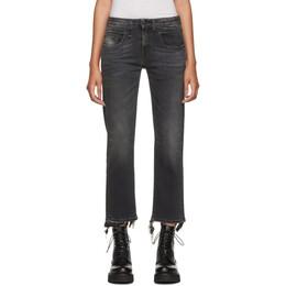 R13 Black Straight Cropped Boy Jeans 192021F06900901GB
