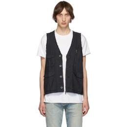 John Elliott Black Inca Vest 192761M18500105GB