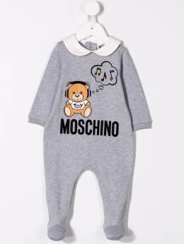 Moschino Kids - комбинезон для новорожденного с логотипом 608LDA93959960590000